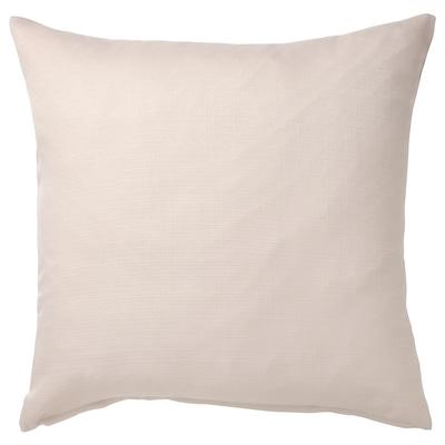 "MAJBRÄKEN Cushion cover, light grey-beige, 20x20 """