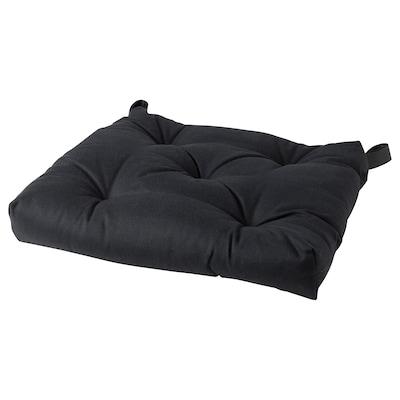 "MALINDA Chair pad, black, 16/14x15x3 """