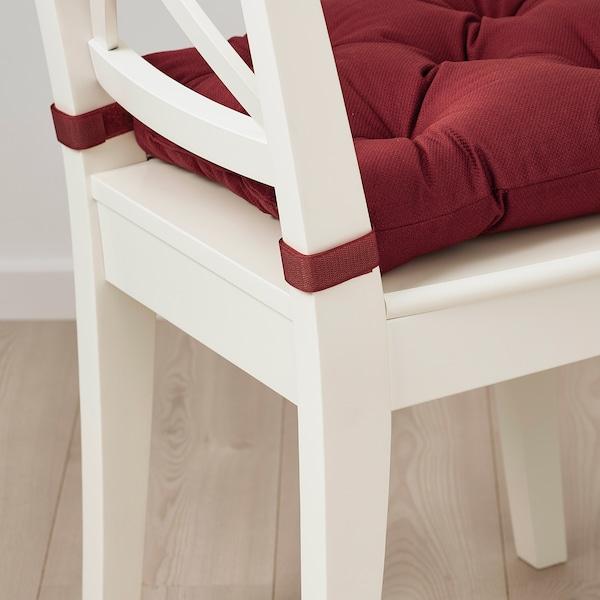 "MALINDA Chair pad, dark red-brown, 16/14x15x3 """