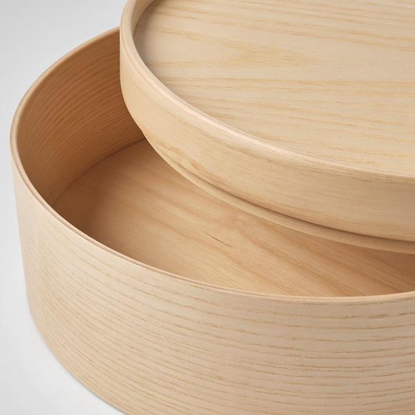 "MALLGRODA Box with lid, ash veneer, 9 ¾x4 """