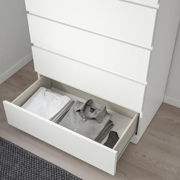 Malm 6 Drawer Chest White 311 2x483 8 80x123 Cm Ikea