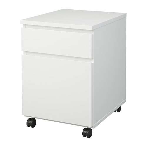 MALM Drawer unit on casters   The casters make it easy to move around.