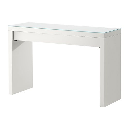 MALM Dressing table   Smooth running drawer with pull-out stop.