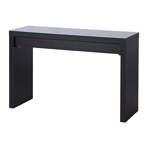malm dressing table black brown ikea. Black Bedroom Furniture Sets. Home Design Ideas