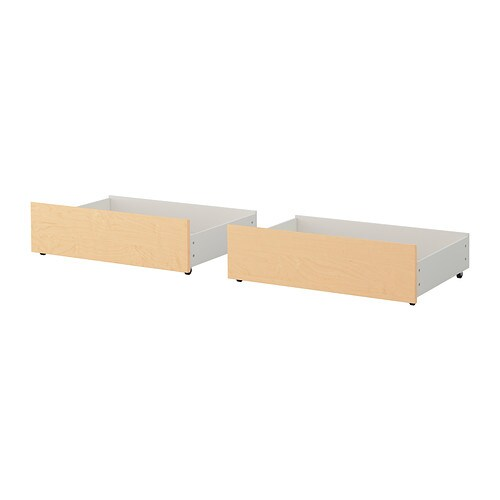 malm underbed storage box for high bed birch veneer