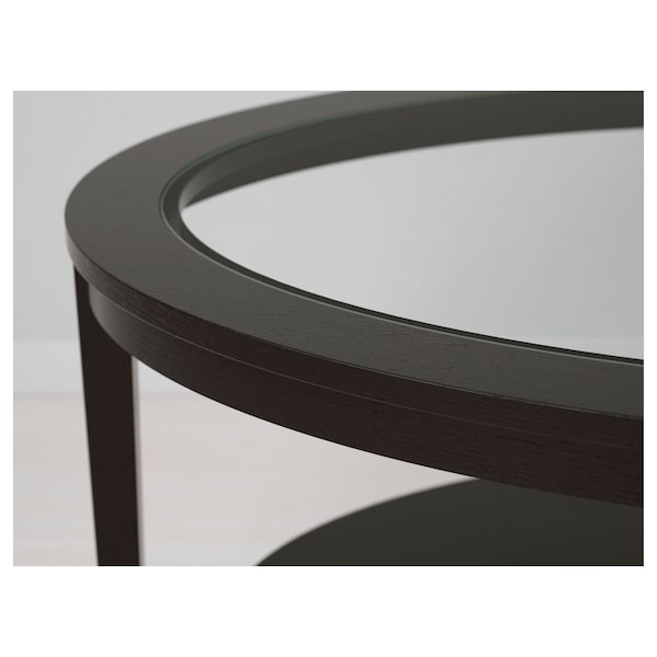 "MALMSTA Side table, black-brown, 21 1/4 """