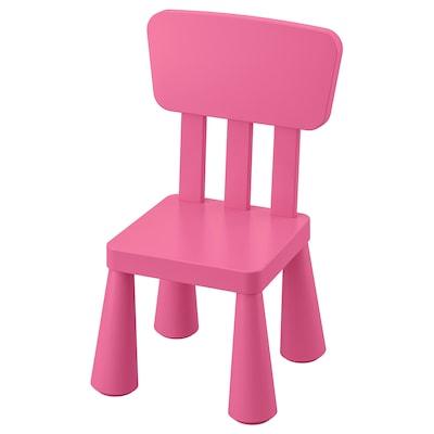 """MAMMUT children's chair indoor/outdoor/pink 15 3/8 """" 14 1/8 """" 26 3/8 """" 10 1/4 """" 11 3/4 """""""