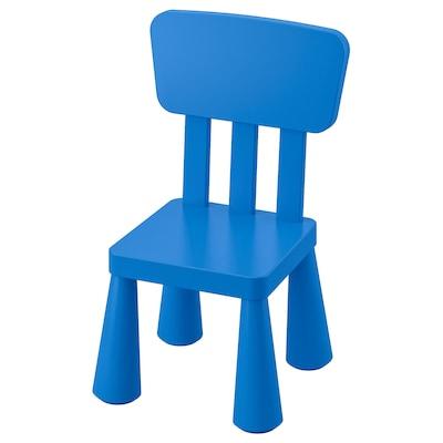 "MAMMUT children's chair indoor/outdoor/blue 15 3/8 "" 14 1/8 "" 26 3/8 "" 10 1/4 "" 11 3/4 """