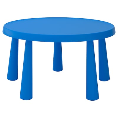 """MAMMUT Children's table, indoor/outdoor blue, 33 1/2 """""""