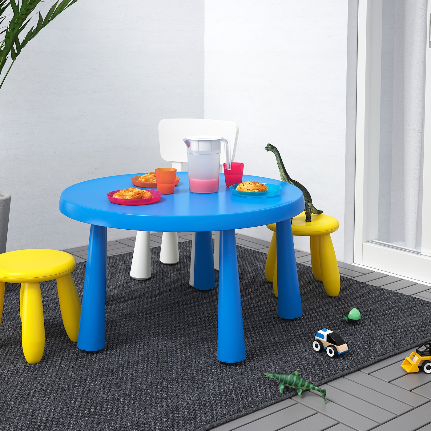 "MAMMUT Children	s table - indoor/outdoor blue 9 9/9 "" (9 cm)"