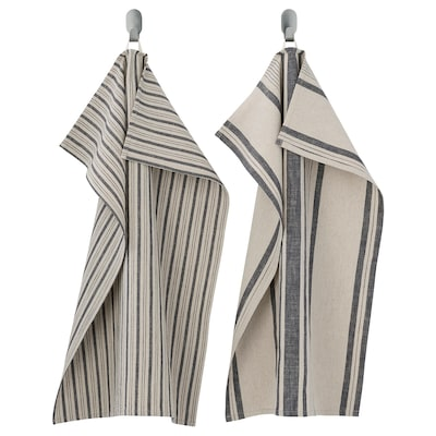 "MARIATHERES Tea-towel, stripe/gray beige, 20x28 """