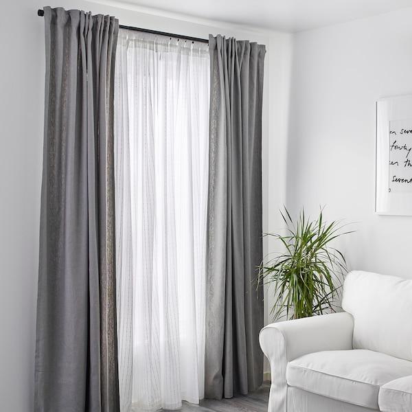 """MATILDA sheer curtains, 1 pair white 98 """" 55 """" 1 lb 2 oz 37.67 sq feet 2 pack"""