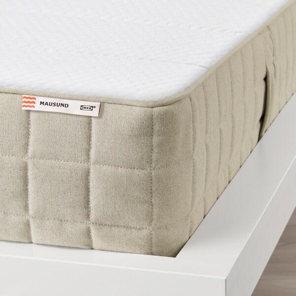 "MAUSUND natural latex mattress medium firm/natural 79 1/2 "" 59 7/8 "" 7 7/8 """