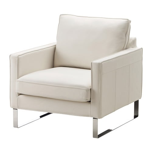 MELLBY Armchair   Soft, hardwearing and easy care leather ages gracefully.