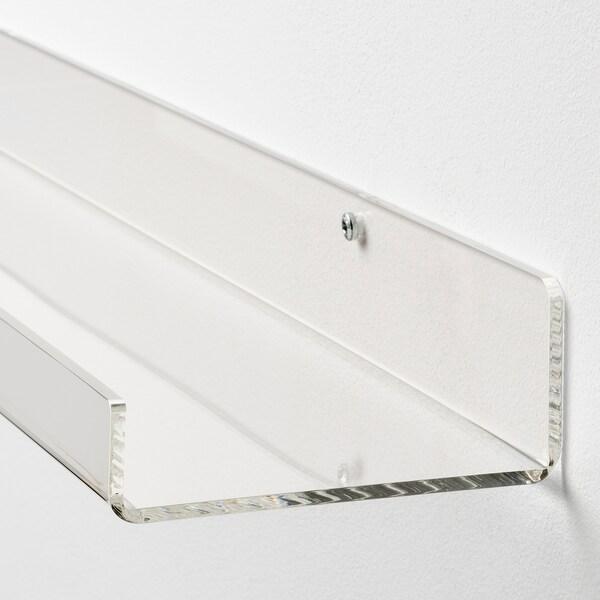"""MELLÖSA picture ledge transparent 23 5/8 """" 4 1/8 """" 11.02 lb"""