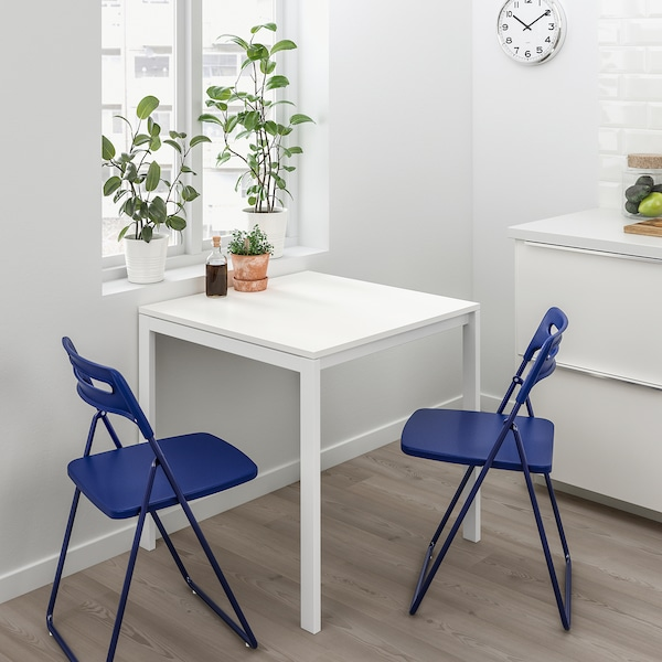 MELLTORP Table, white, 29 1/2x29 1/2 ""