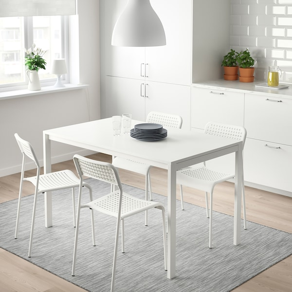MELLTORP Table, white, 49 1/4x29 1/2 ""