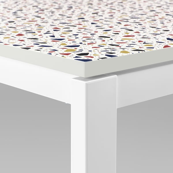 MELLTORP Tabletop, mosaic patterned, 29 1/2x29 1/2 ""