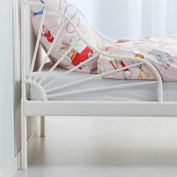 "MINNEN Extendable bed, white, 38 1/4x74 3/4 """