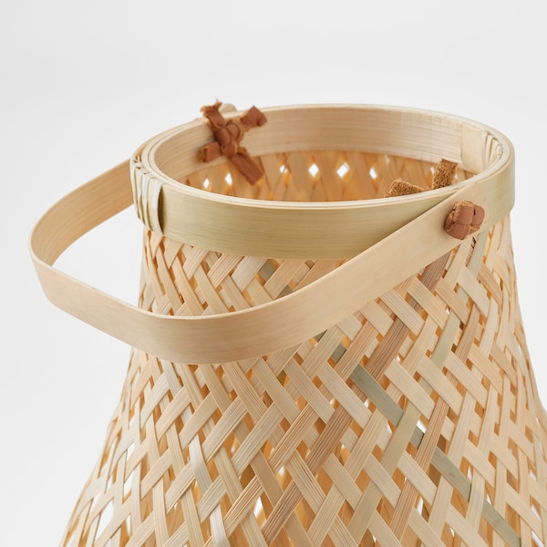 "MISTERHULT Table lamp, bamboo, 14 """