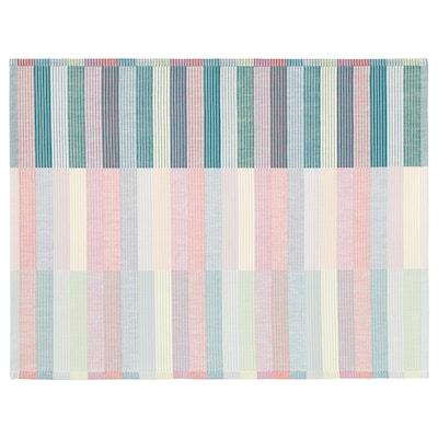 "MITTBIT Place mat, pink turquoise/light green, 18x14 """