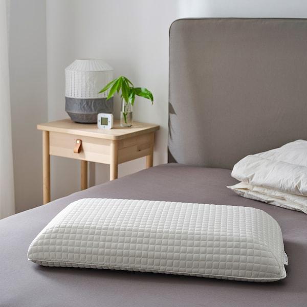 MJÖLKKLOCKA Ergonomic pillow, side/back sleeper, Queen