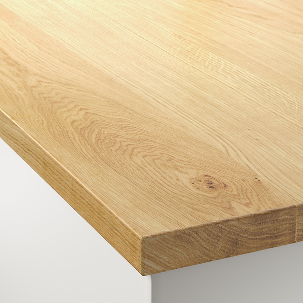 "MÖLLEKULLA Countertop, oak/veneer, 98x1 1/2 """