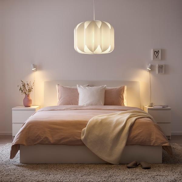 "MOJNA Pendant lamp shade, textile/white, 19 """