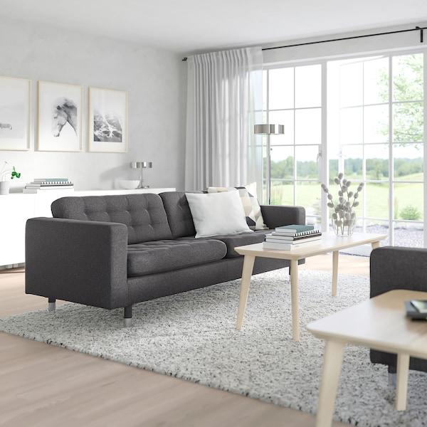 MORABO Sofa, Gunnared dark gray/metal