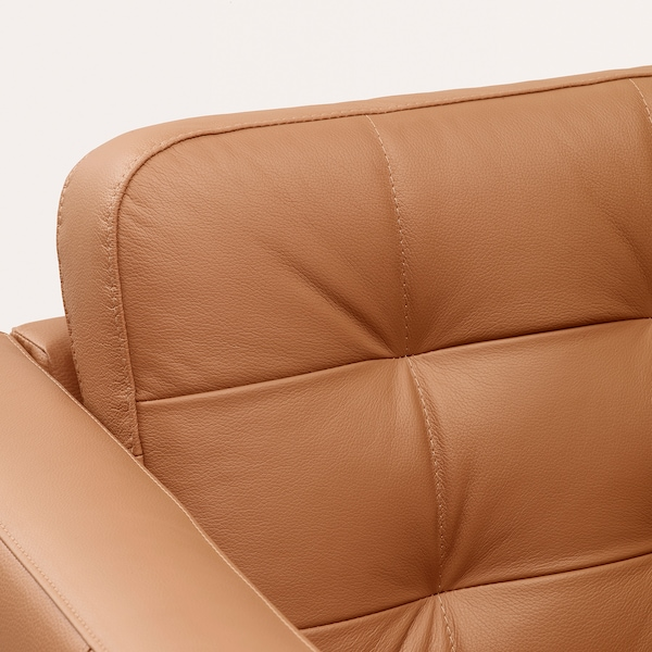 MORABO Sofa, with chaise/Grann/Bomstad golden brown/metal