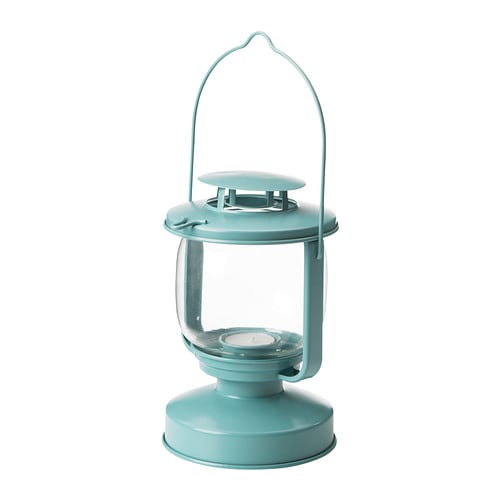 MÖRKT Lantern for tealight   Suitable for both indoor and outdoor use.