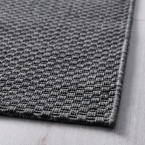 """MORUM Rug flatwoven, in/outdoor, dark gray, 5 ' 3 """"x7 ' 7 """""""