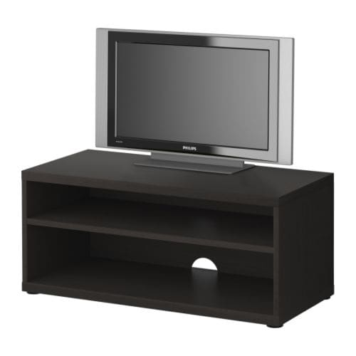 MOSJÖ TV bench   1 adjustable shelf.  Bench with cord outlet in the back; keeps all cords in one place.