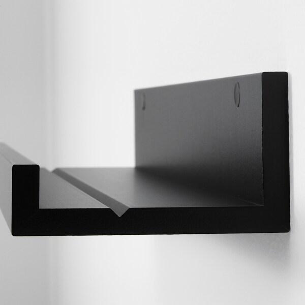 "MOSSLANDA Picture ledge, black, 21 ¾ """