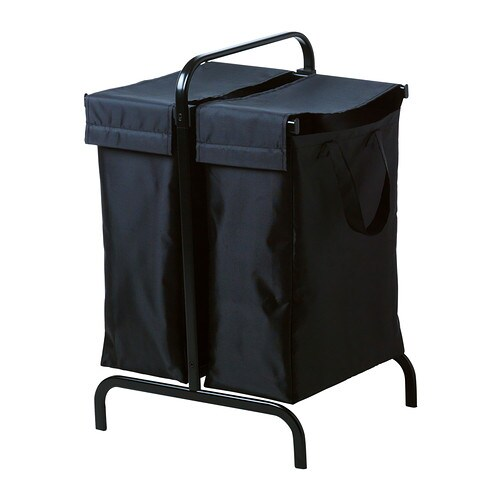 Mulig laundry bag with stand black ikea - Laundry basket lights darks colours ...