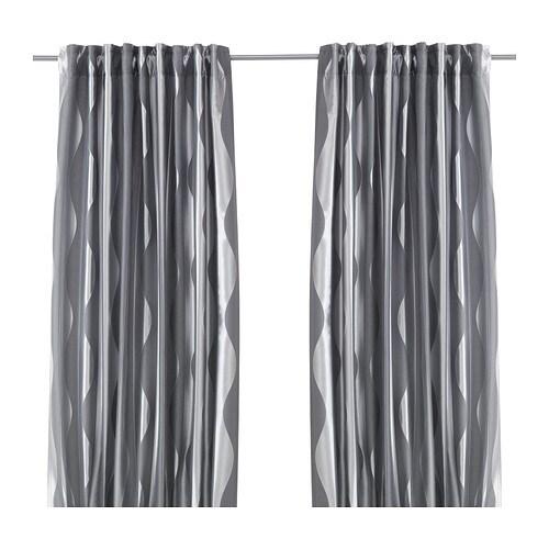 MURRUTA Curtains, 1 Pair