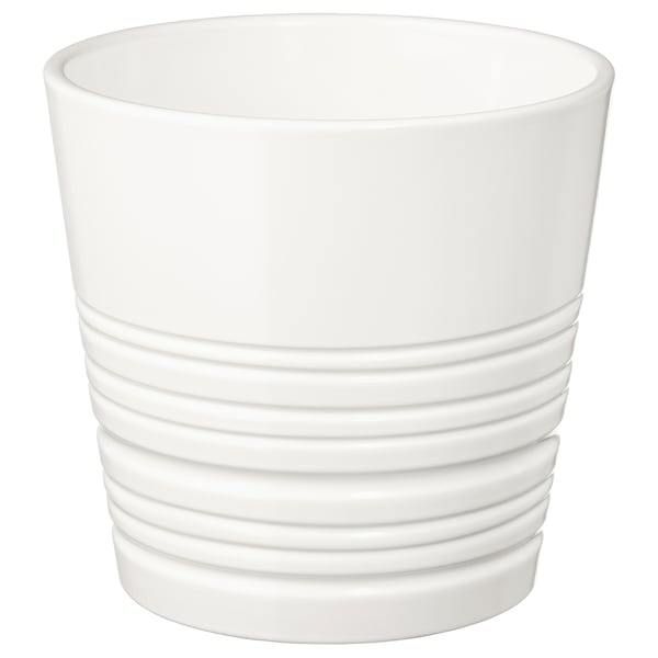 MUSKOT Plant pot, white, 4 ¾ ""