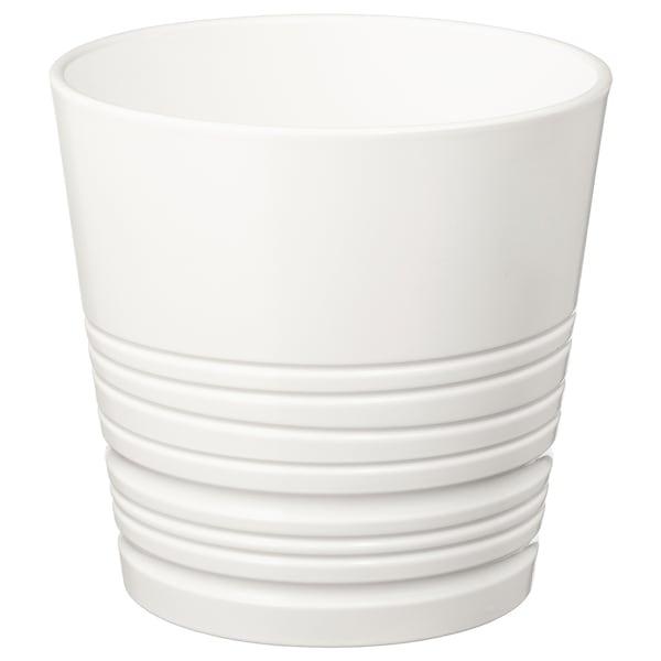 "MUSKOT Plant pot, white, 6 """