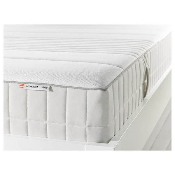 MYRBACKA Memory foam mattress, firm/white, Full