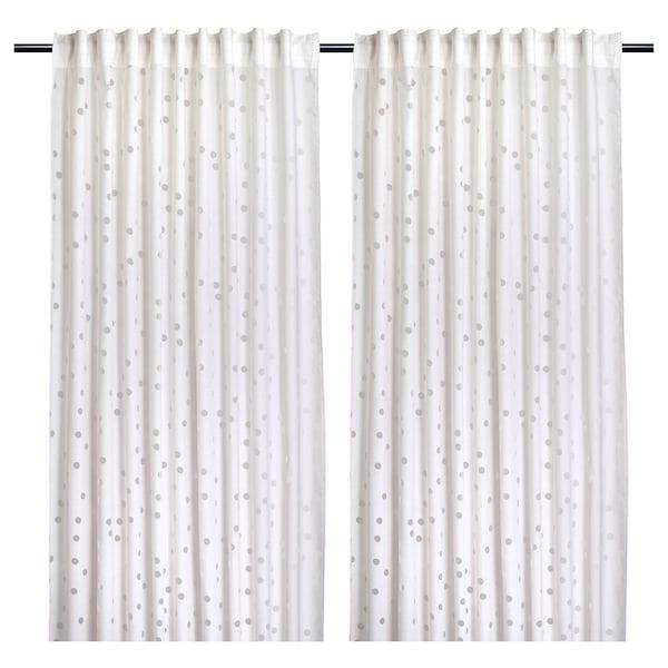 "MYRTENTRY Sheer curtains, 1 pair, white, 57x98 """