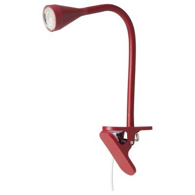 NÄVLINGE LED clamp spotlight, dark red