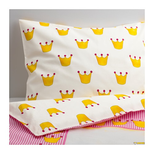 NATURKÄR Duvet cover and pillowcase(s)   Cotton is soft and feels nice against your child's skin.
