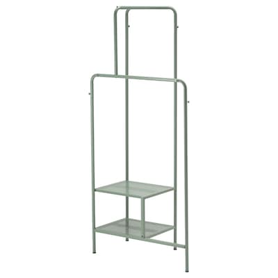 NIKKEBY Clothes rack, gray-green, 31 1/2x66 7/8 ""