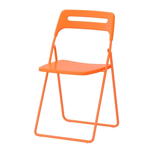 NISSE Folding chair   You can fold the chair, so it takes less space when you're not using it.