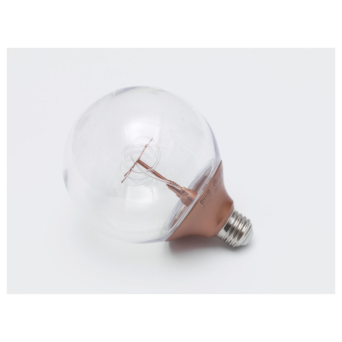 "Dressing De Coin Ikea nittio led bulb e26 20 lumen - globe copper color 5 "" (120 mm)"