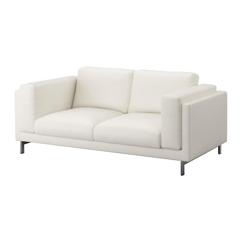 Nockeby Loveseat Cover Risane White Ikea