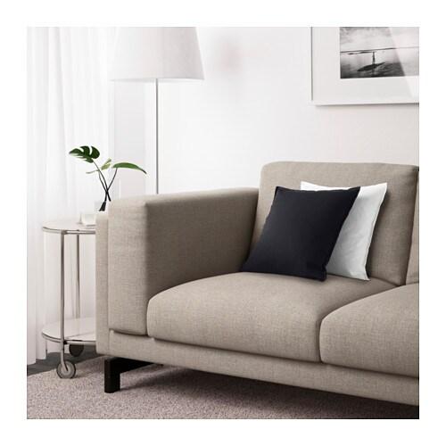 Nockeby sofa right ten light gray with chaise wood ikea for Sofa nockeby