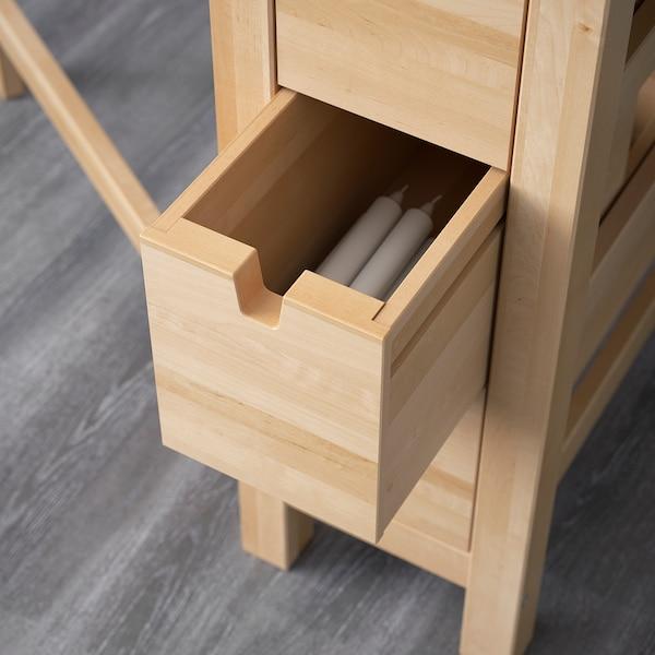 "NORDEN Gateleg table, birch, 10 1/4/35/59 7/8x31 1/2 """