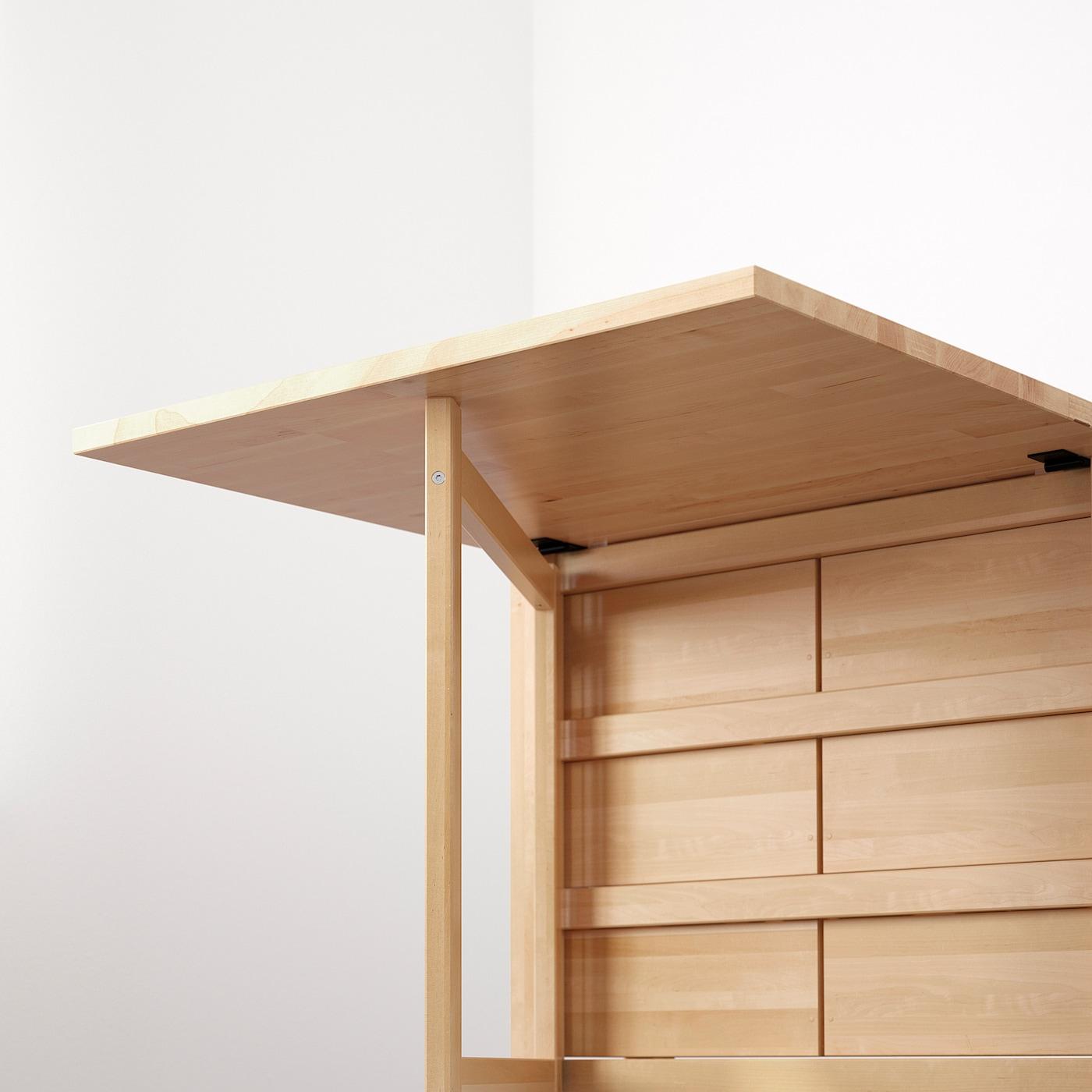 Norden Gateleg Table Birch 101 4 35 597 8x311 2 26 89 152x80 Cm Ikea