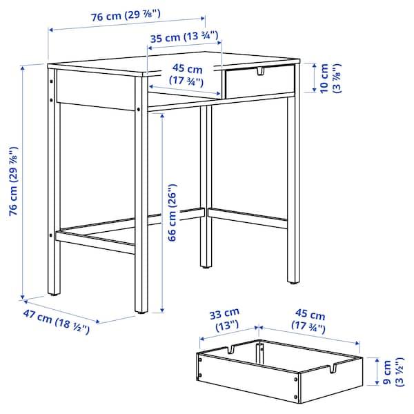 "NORDKISA Dressing table, bamboo, 29 7/8x18 1/2 """